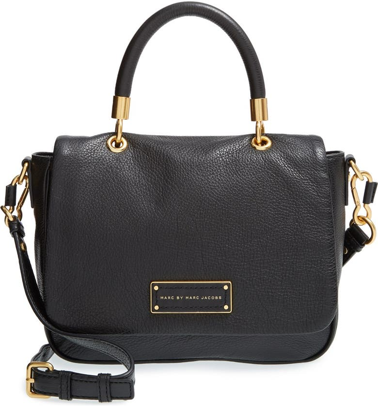 MARC JACOBS MARC BY MARC JACOBS 'Small Too Hot To Handle' Leather Tote, Main, color, Black