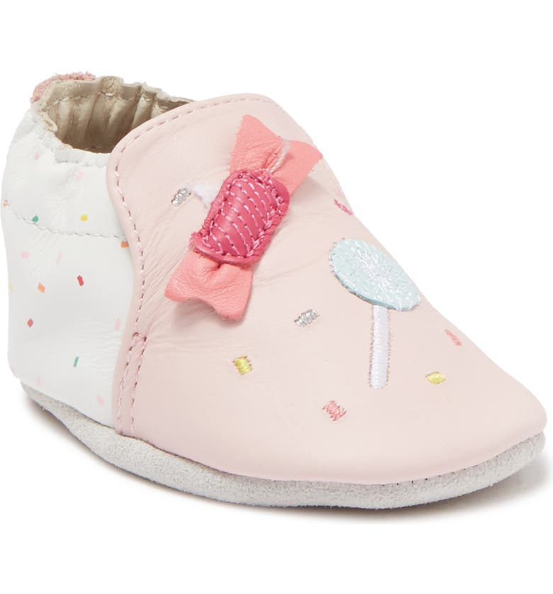 ROBEEZ Pippa Leather Shoe, Main, color, LIGHT PINK