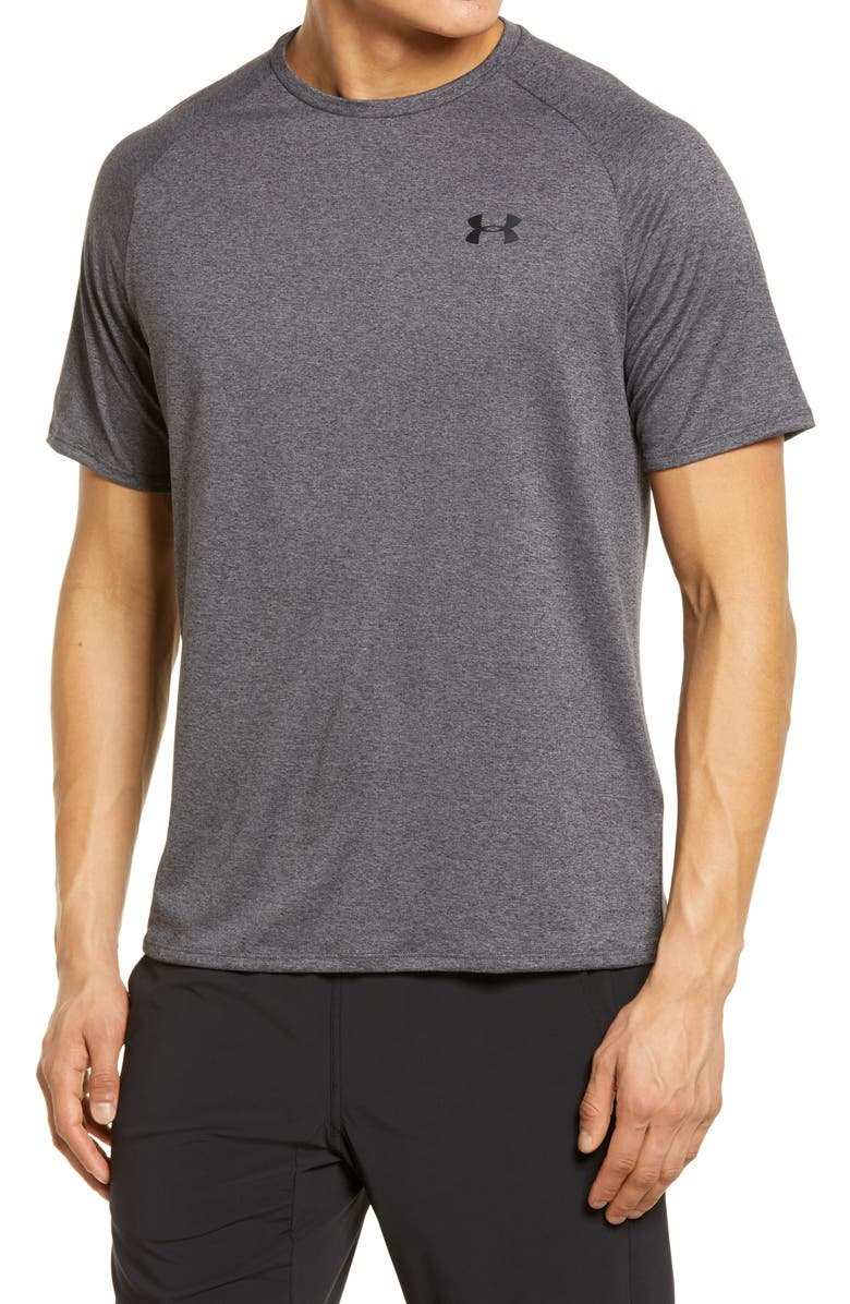 UNDER ARMOUR UA Tech<sup>™</sup> T-Shirt, Main, color, CARBON HEATHER / BLACK