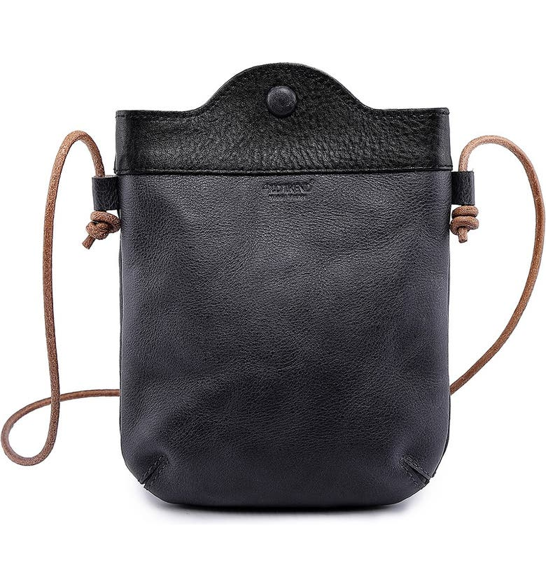 OLD TREND Outwest Leather Crossbody Bag, Main, color, GREY/BLACK