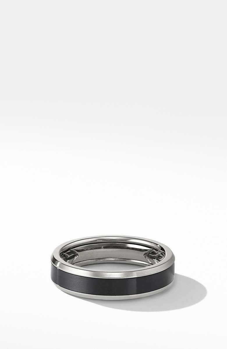 DAVID YURMAN Beveled Titanium Band Ring, Main, color, 022