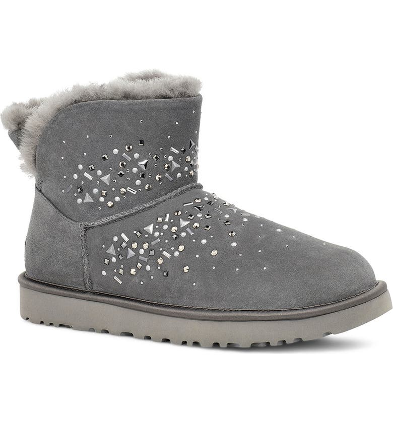 UGG<SUP>®</SUP> Classic Galaxy Bling Mini Bootie, Main, color, 020