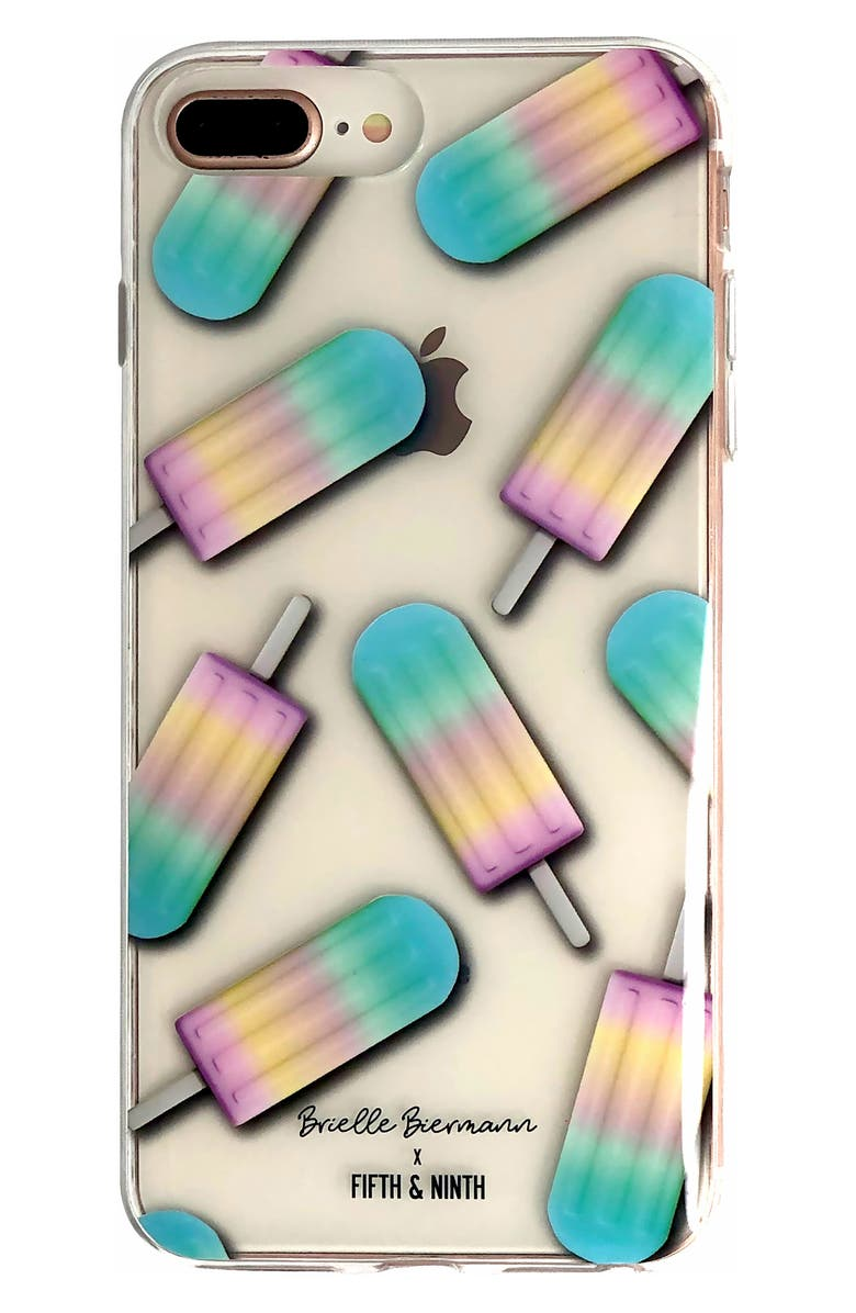 FIFTH & NINTH x Brielle Biermann Stay Cool iPhone 6/6s/7/8 Plus Case, Main, color, 400