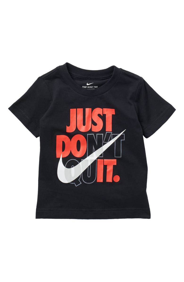 NIKE Just Don't Quit Short Sleeve T-Shirt, Main, color, TRENCHED