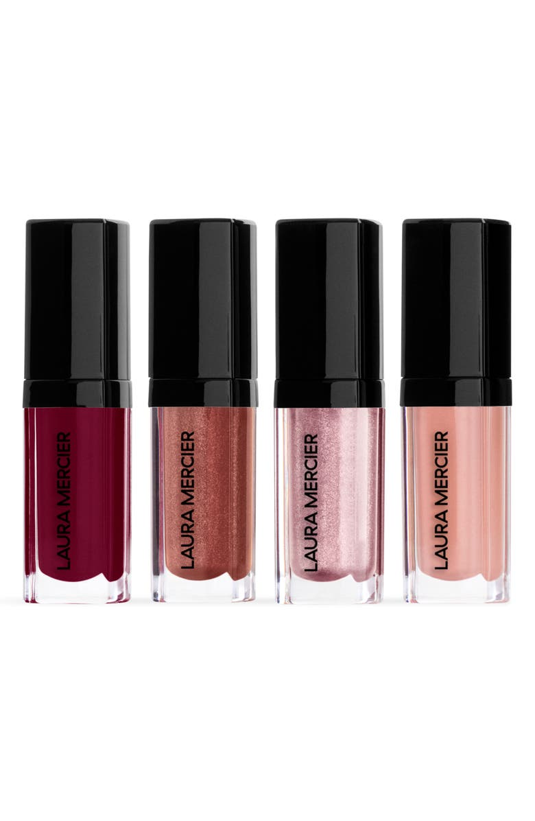 LAURA MERCIER Kisses From the Balcony Lip Glacé Lip Gloss Set, Main, color, NO COLOR