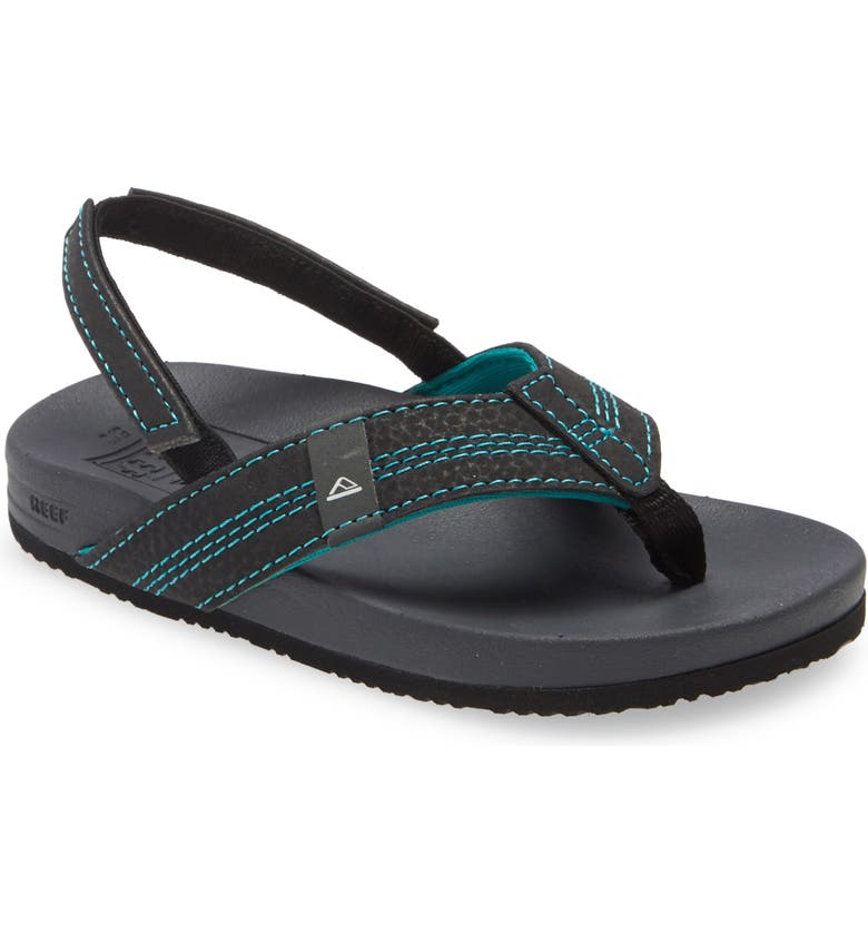 REEF Little Cushion Bounce Sandal, Main, color, BLACK/ BLUE