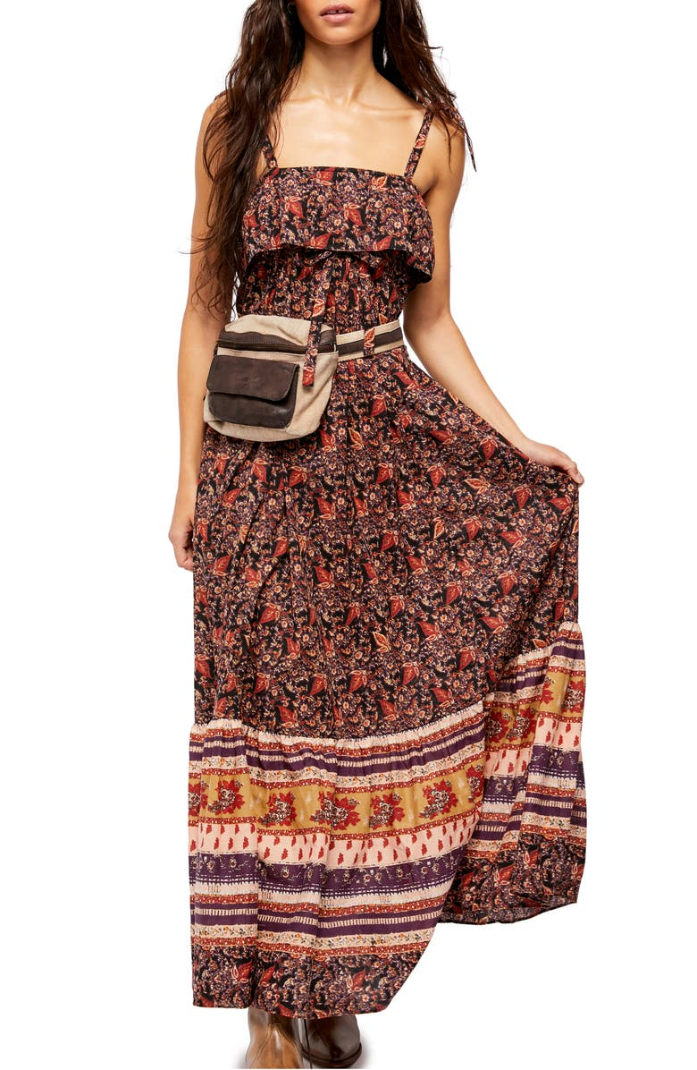 FREE PEOPLE Tangier Tie Shoulder Maxi Dress, Main, color, 019