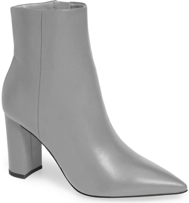 MARC FISHER LTD Ulani Pointy Toe Bootie, Main, color, GREY/ GREY LEATHER