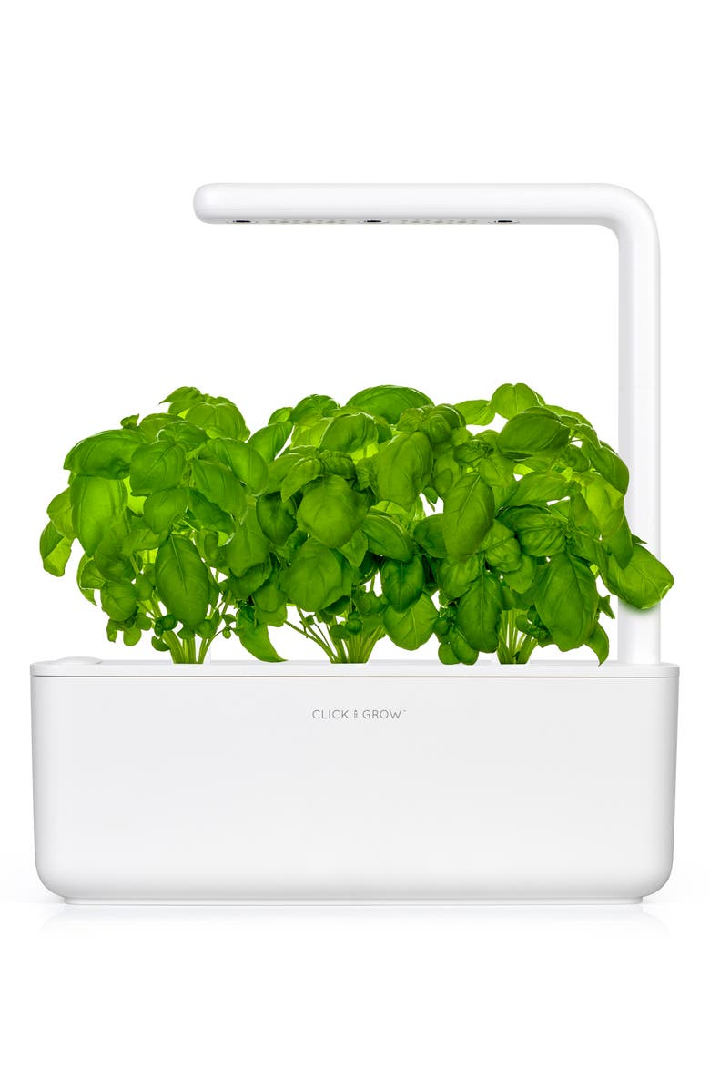 CLICK & GROW Smart Garden 3 Self Watering Indoor Garden, Main, color, WHITE