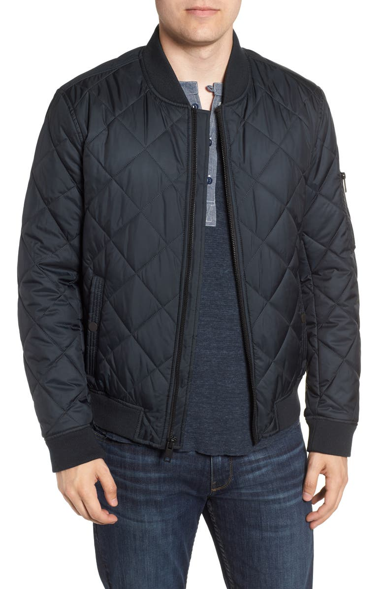 MARC NEW YORK Fletcher Quilted Bomber Jacket, Main, color, 001