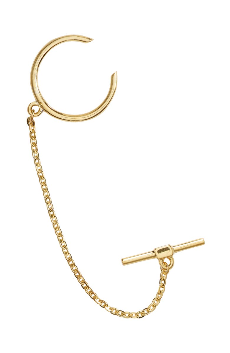 MADEWELL Delicate Collection Demi-Fine Chain Ear Cuff, Main, color, VERMEIL