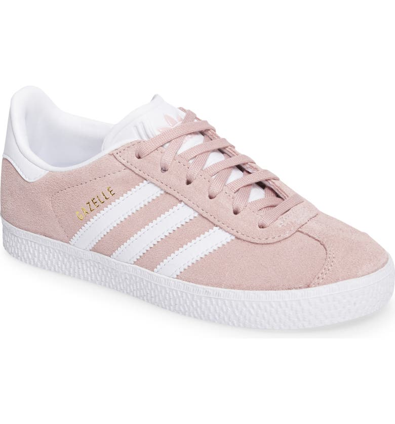 ADIDAS Gazelle Sneaker, Main, color, ICY PINK/ WHITE/ GOLD