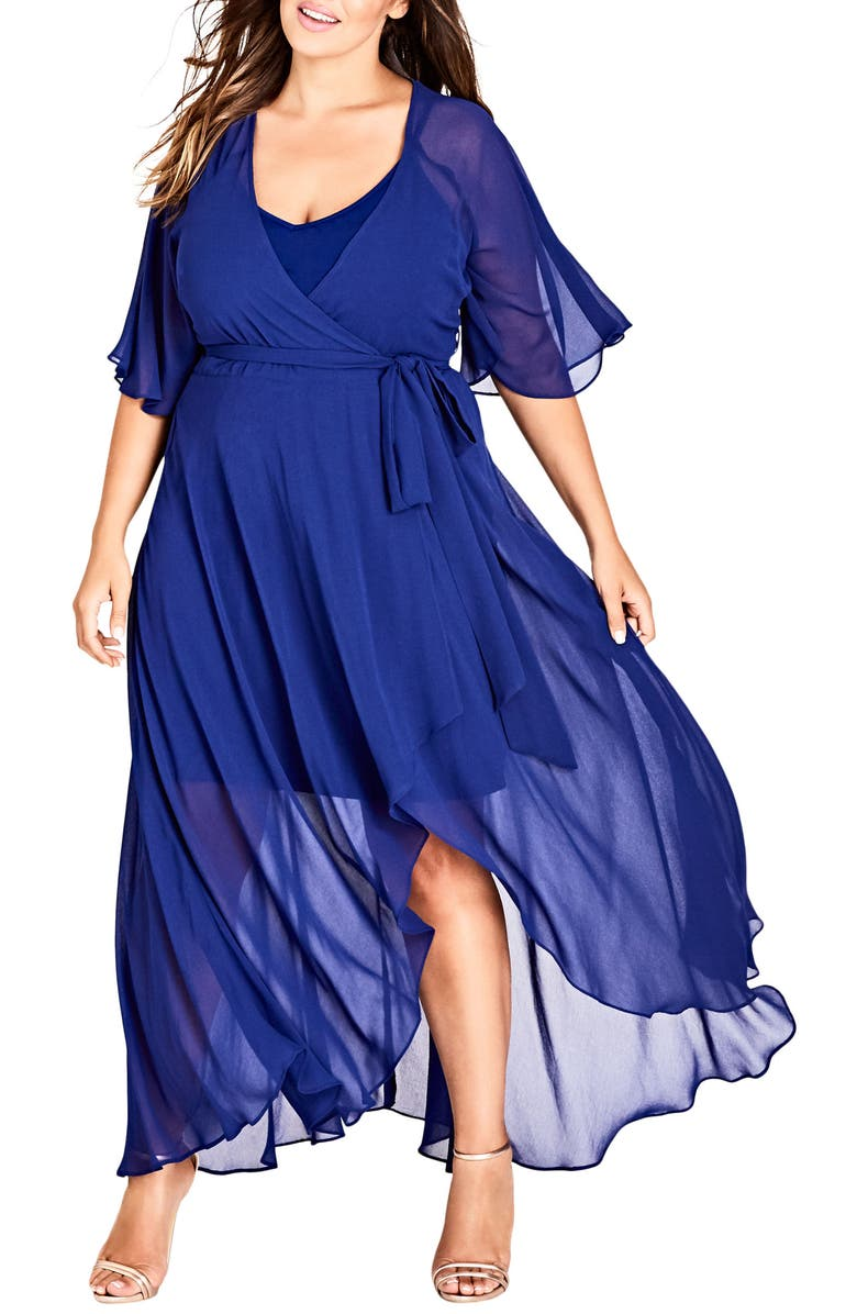 CITY CHIC Enthrall Me High/Low Dress, Main, color, 400