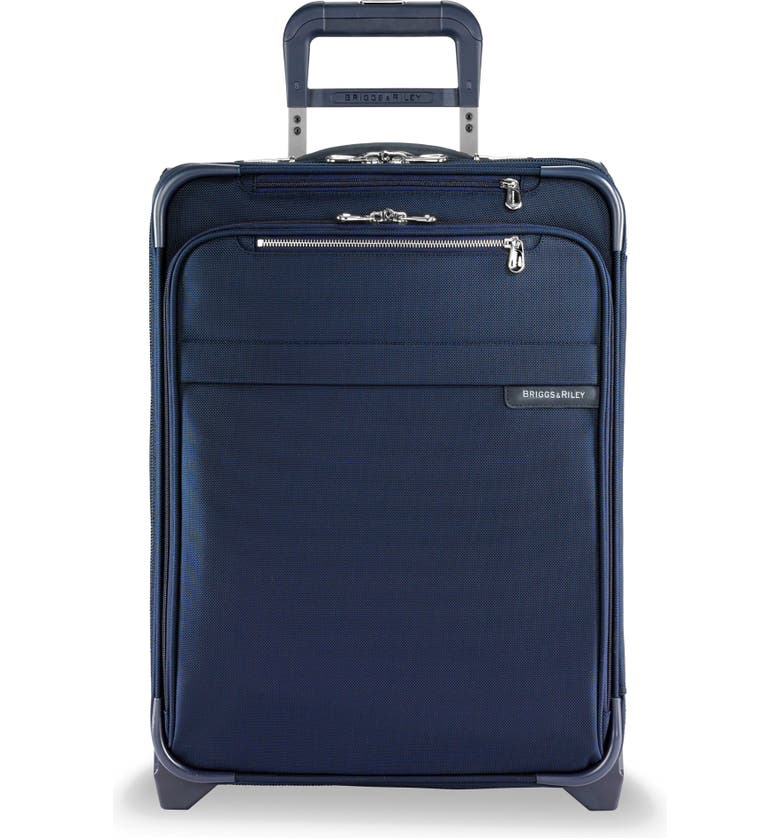 BRIGGS & RILEY Baseline 21-Inch Expandable Wide-Body Upright Carry-On, Main, color, NAVY