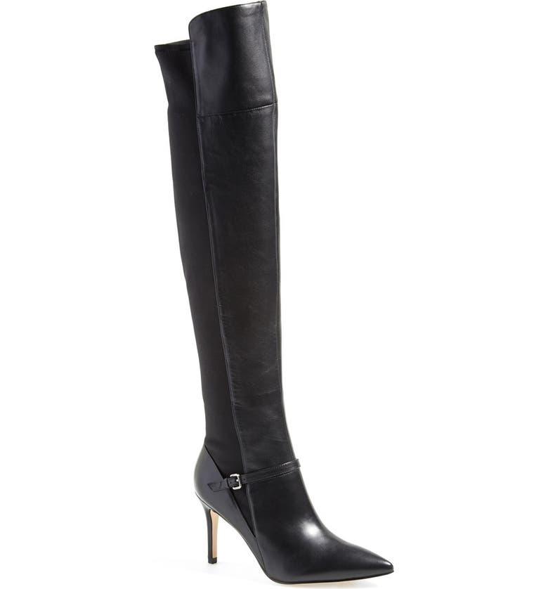 IVANKA TRUMP 'Anaba' Pointy Toe Over the Knee Boot, Main, color, 001