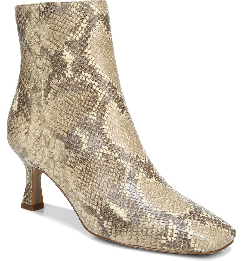 SAM EDELMAN Lizzo Bootie, Main, color, WHEAT MULTI EXOTIC SNAKE PRINT