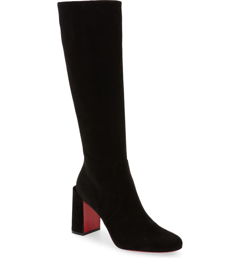 CHRISTIAN LOUBOUTIN Cavalika Knee High Boot, Main, color, Black