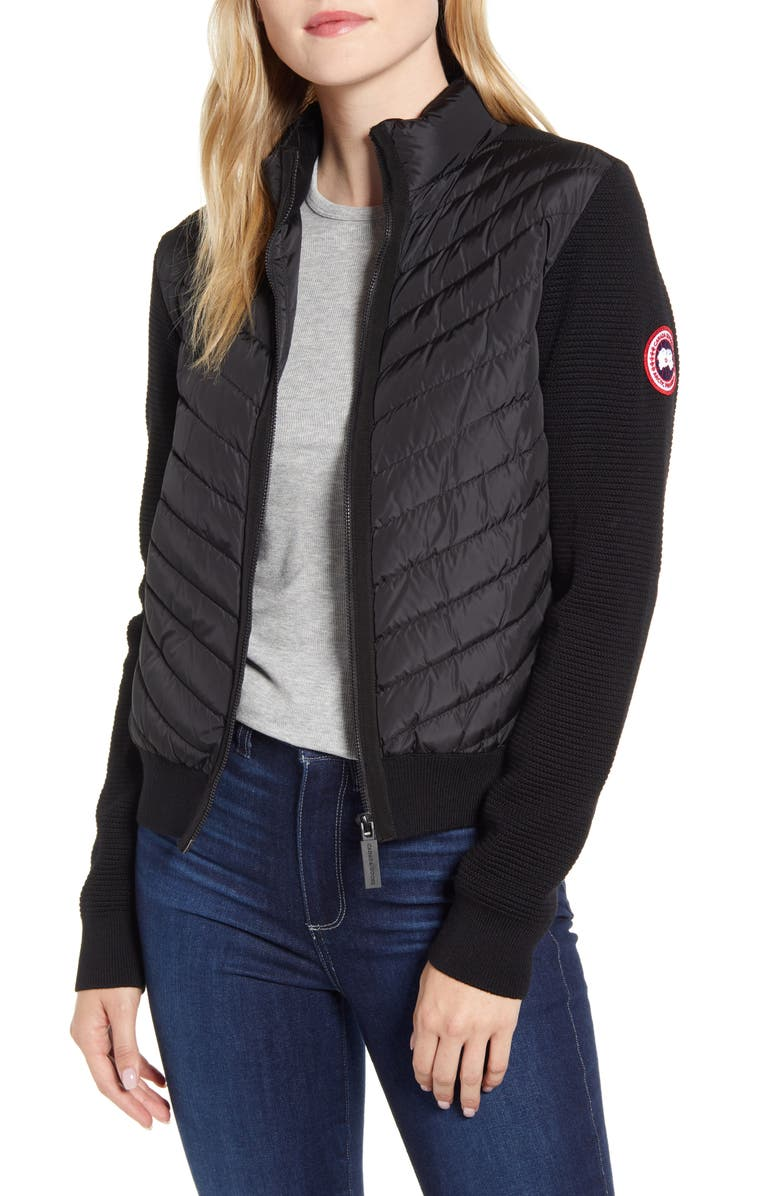 CANADA GOOSE Hybridge Quilted & Knit Jacket, Main, color, 013