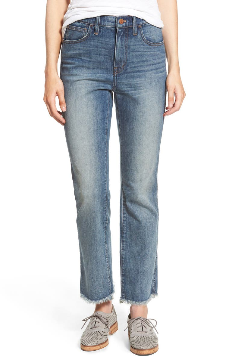 MADEWELL High Rise Ankle Bootcut Jeans, Main, color, ESSEX WASH