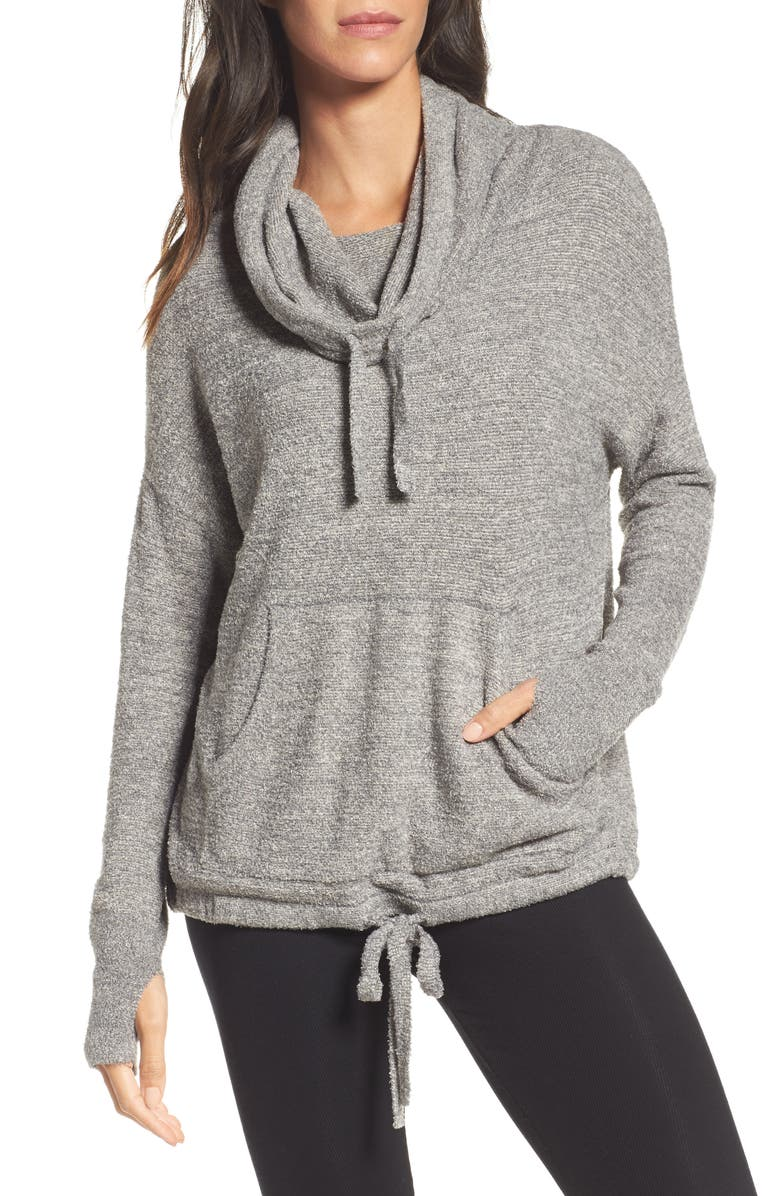 BAREFOOT DREAMS<SUP>®</SUP> CozyChic Lite<sup>®</sup> Pebble Beach Hoodie, Main, color, 020