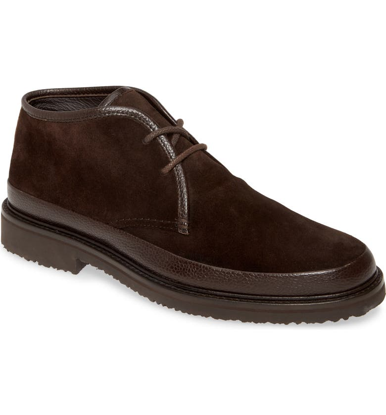 ERMENEGILDO ZEGNA 'Trivero' Chukka Boot, Main, color, DARK BROWN