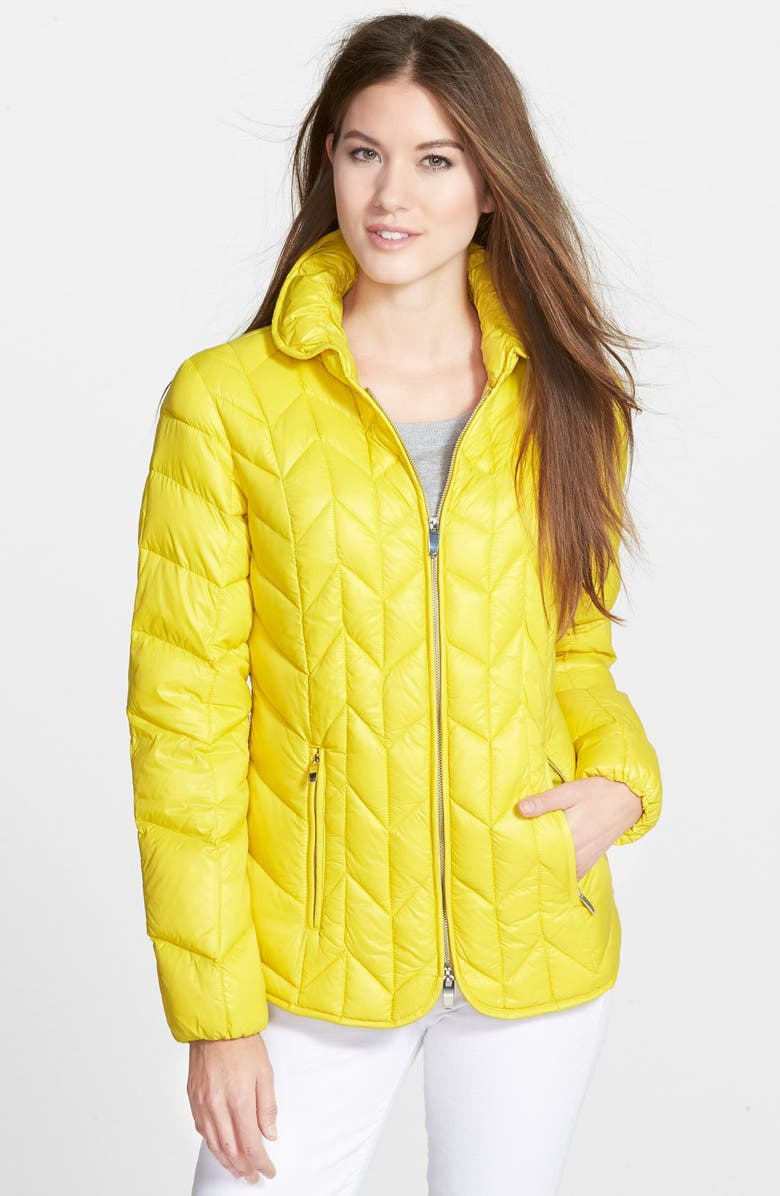 VIA SPIGA Chevron Quilted Packable Down Jacket, Main, color, 300