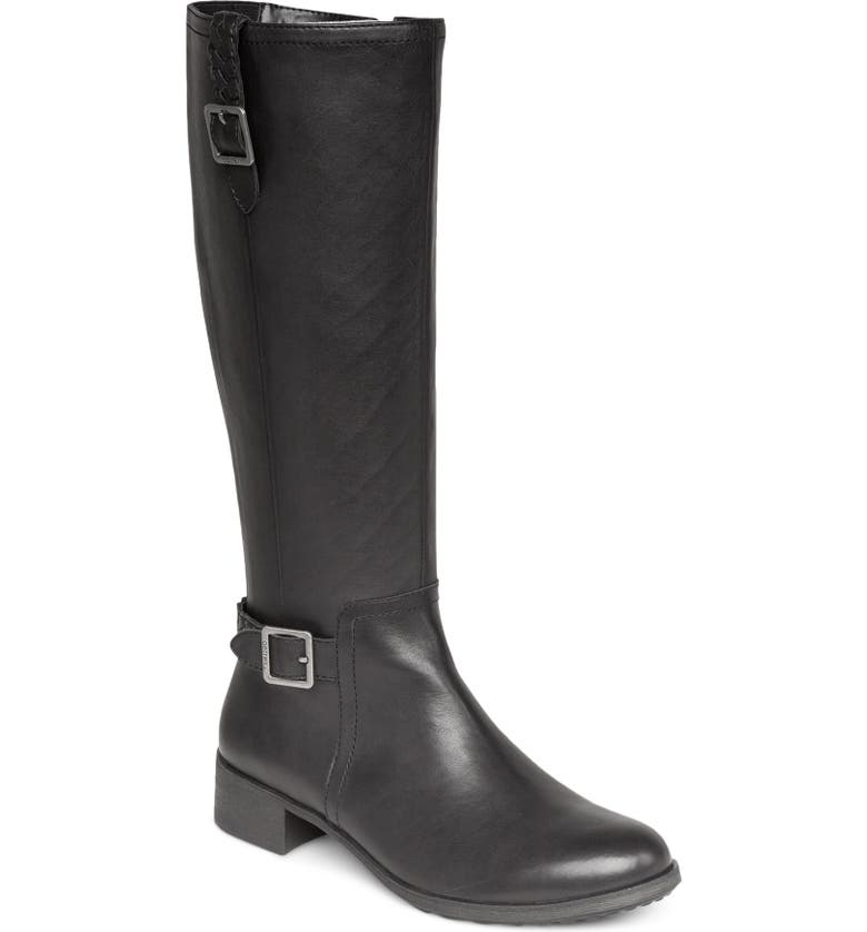AETREX Vera Riding Boot, Main, color, BLACK LEATHER