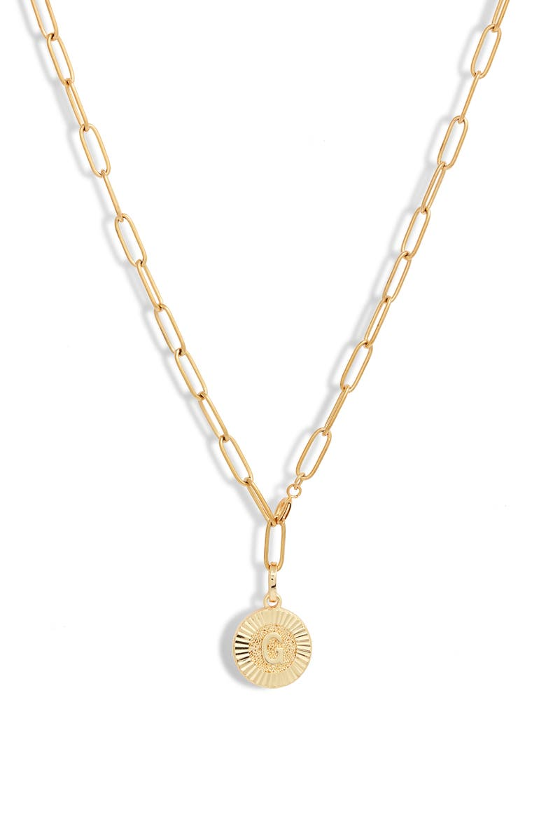 BRACHA Initial Medallion Y-Necklace, Main, color, GOLD - G
