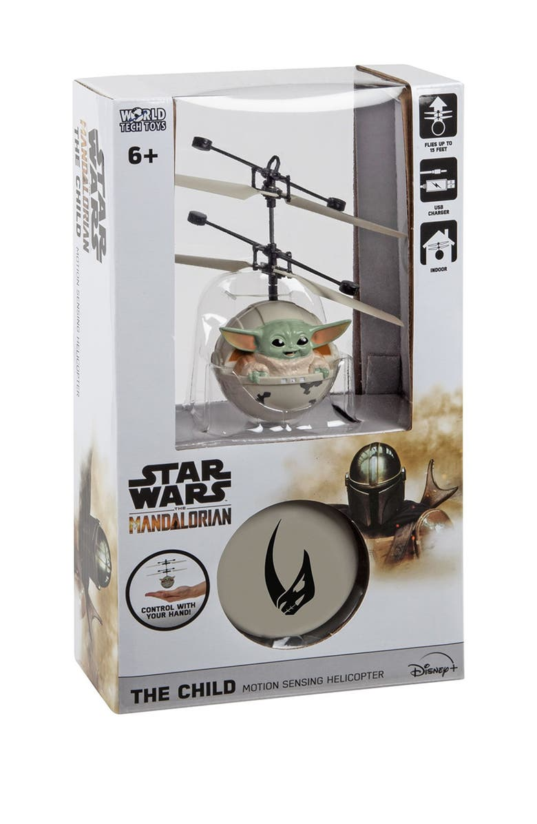 """WORLD TECH TOYS Star Wars The Mandalorian Baby Yoda """"The Child"""" Sculpted Head UFO Helicopter, Main, color, MULTI"""