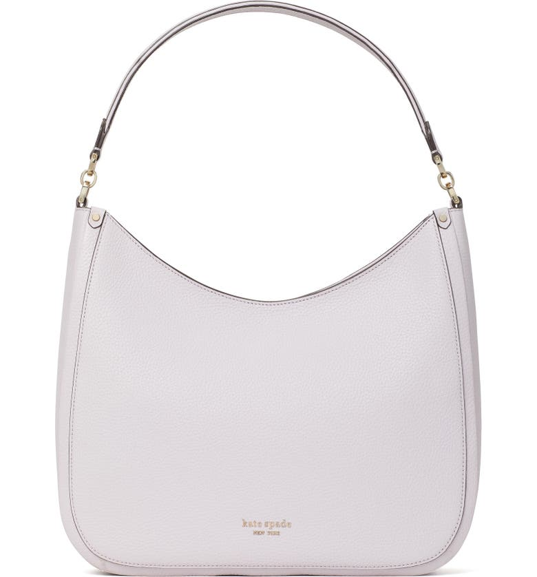 KATE SPADE NEW YORK roulette large leather hobo bag, Main, color, LILAC MOONLIGHT