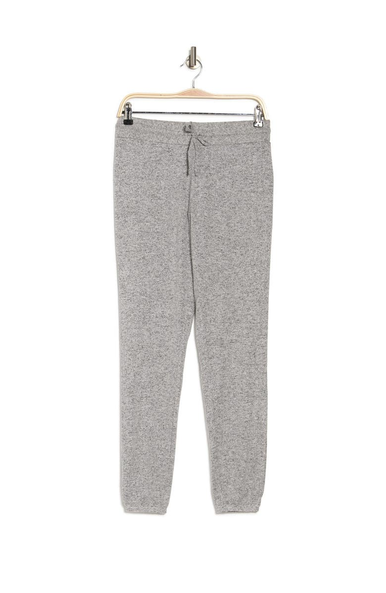 FREE PRESS Cozy Brushed Knit Lounge Joggers, Main, color, GREY PEARL MARL