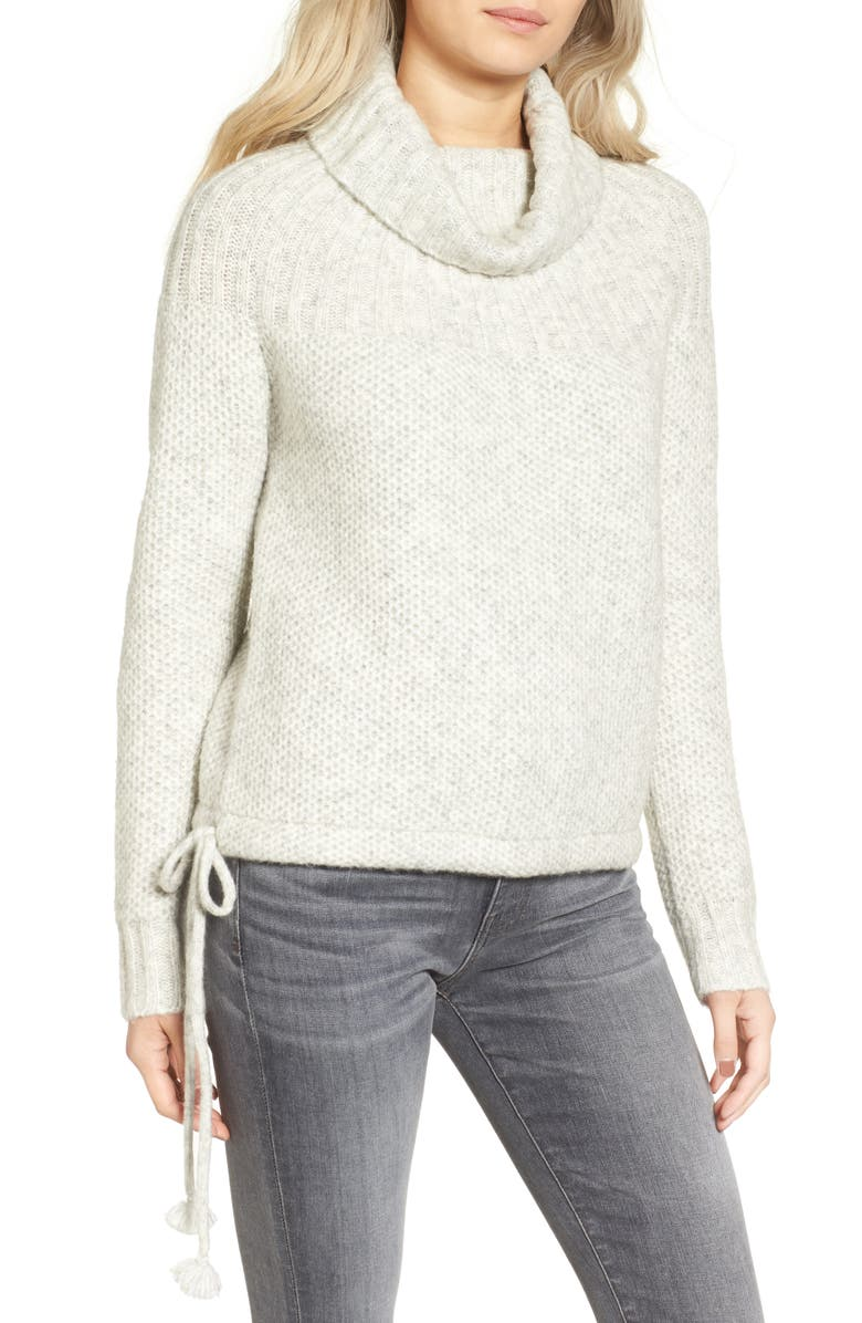MADEWELL Drawcord Cowl Sweater, Main, color, 020