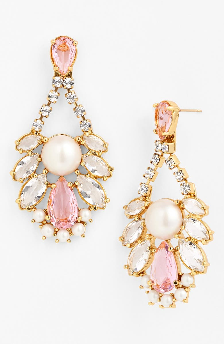 KATE SPADE NEW YORK 'sunrise cluster' chandelier earrings, Main, color, 680