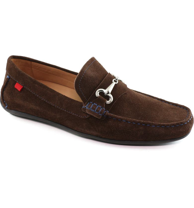 MARC JOSEPH NEW YORK Wall Street Driving Shoe, Main, color, BROWN SUEDE