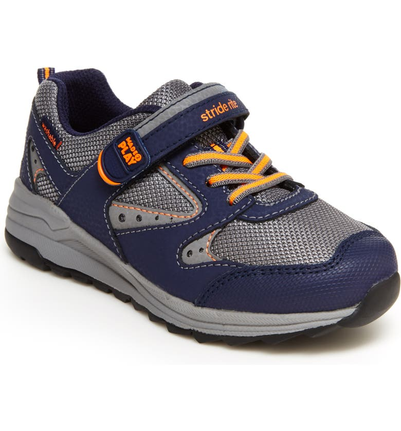 STRIDE RITE Made2Play<sup>®</sup> Xander Sneaker, Main, color, NAVY