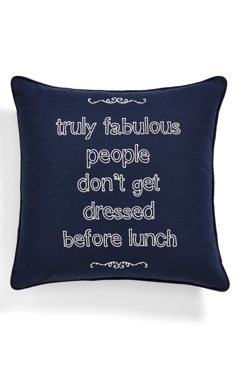 LEVTEX 'Truly Fabulous People' Square Accent Pillow, Main, color, 400