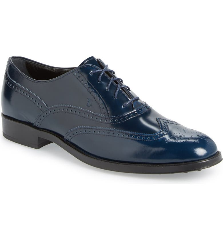 TOD'S Wingtip Oxford, Main, color, 410