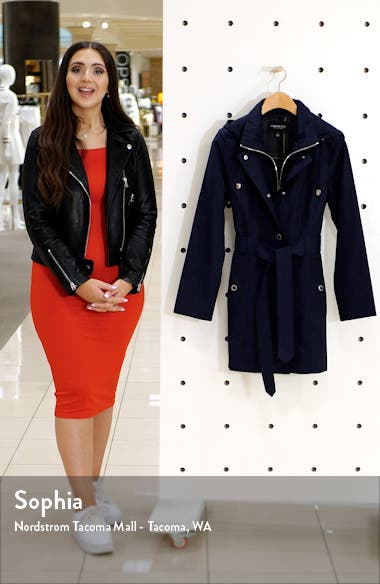 Hooded Trench Coat with Bib Inset, sales video thumbnail