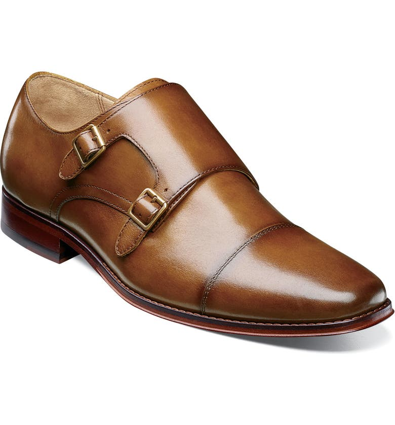 FLORSHEIM Imperial Palermo Double Monk Strap Shoe, Main, color, COGNAC