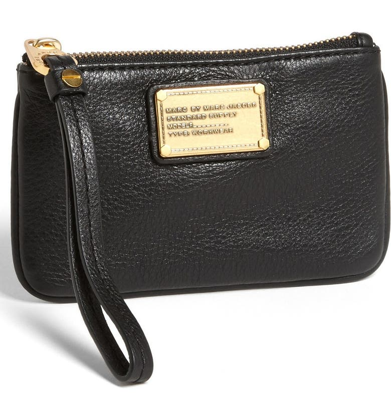 "MARC JACOBS MARC BY MARC JACOBS 'Small Classic Q"" Wristlet, Main, color, 001"
