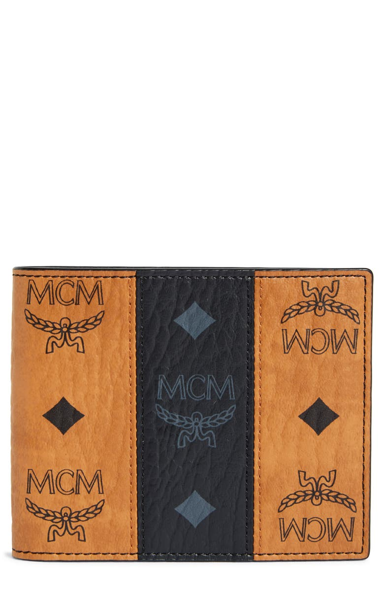 MCM Visetos Leather Wallet, Main, color, 210