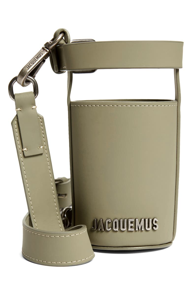 JACQUEMUS Le Porte Gourde Crossbody Leather Bottle Holder, Main, color, 300