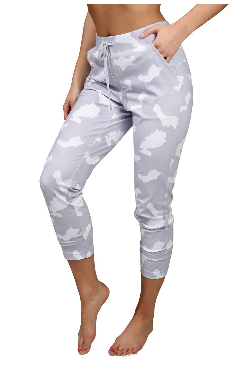 90 DEGREE BY REFLEX Lux Camo Side Pocket Jogger With Drawstring, Main, color, CAMO WHITE COMBO