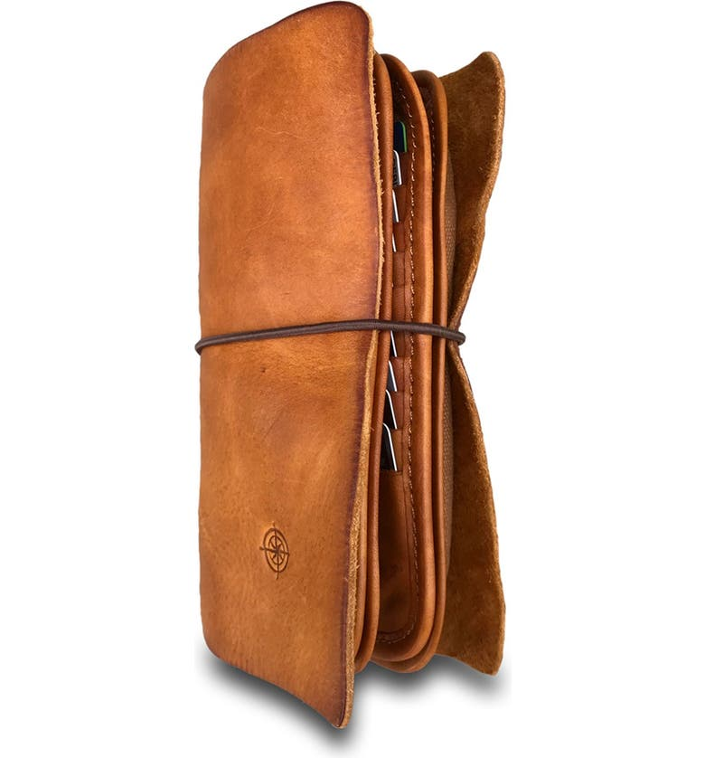 OLD TREND Nomad Leather Organizer, Main, color, CHESTNUT