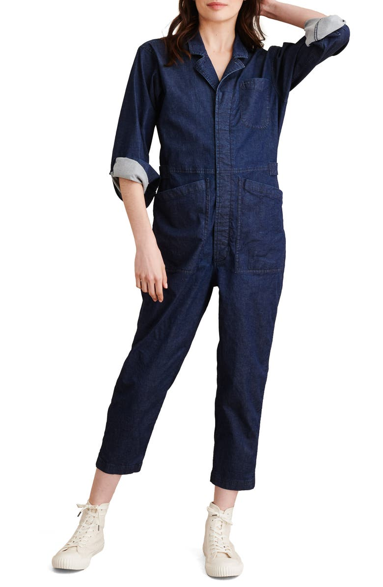 ALEX MILL Long Sleeve Chambray Jumpsuit, Main, color, 480