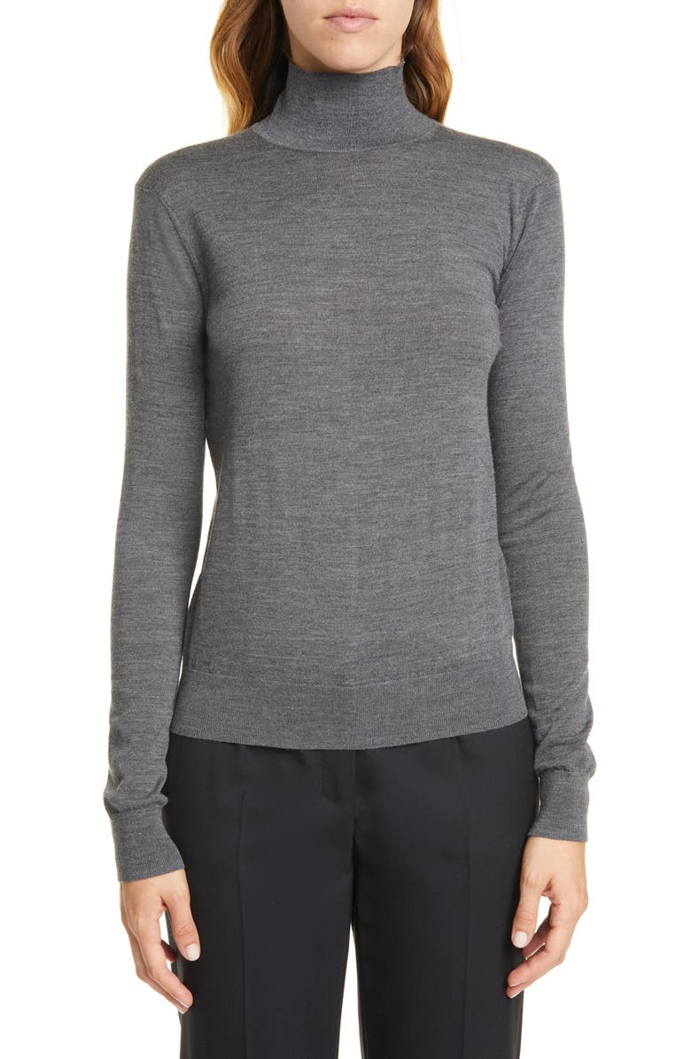 THEORY Wool Mock Neck Sweater, Main, color, 030