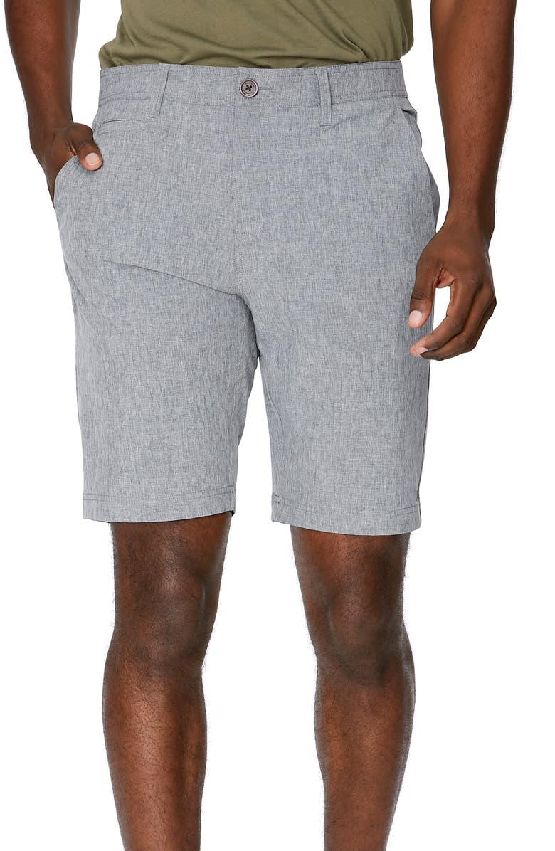 7 DIAMONDS Velocity Hybrid Shorts, Main, color, LIGHT GREY