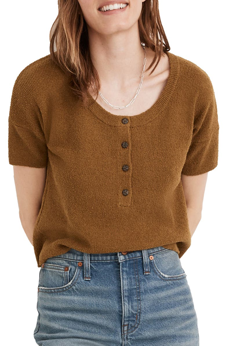 MADEWELL Henley Sweater, Main, color, DISTANT OLIVE