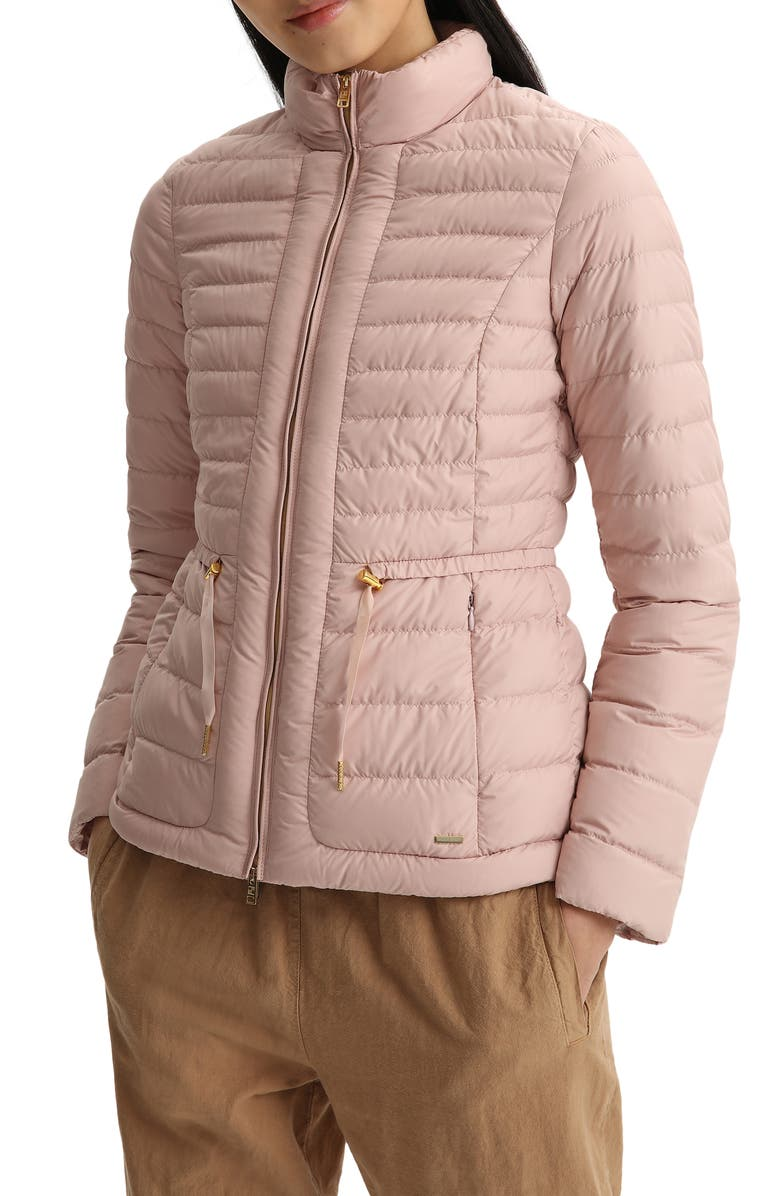 WOOLRICH Hibiscus Water Repellent Down Jacket, Main, color, MISTY ROSE