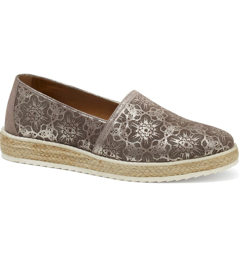 TRASK Cailyn Flat, Main, color, PEWTER METALLIC SUEDE